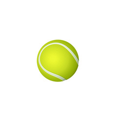 flat cartoon tennis ball isolated vector image