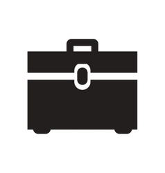 Flat icon in black and white business bag vector
