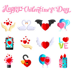 Flat with love images vector