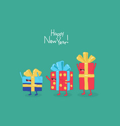 funny gifts for new year graphics vector image