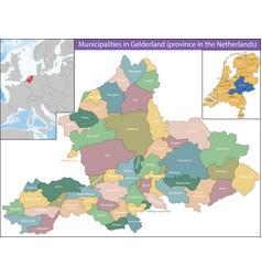 Gelderland is a province netherlands vector