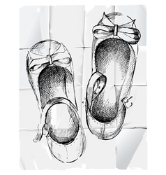 Girl shoes vector