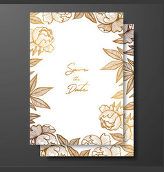 gold card template for invitations greeting cards vector image