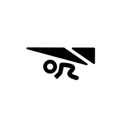 Hang glider concept - minimal icon vector