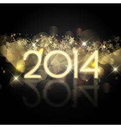 Happy New Year background with a starry design vector image