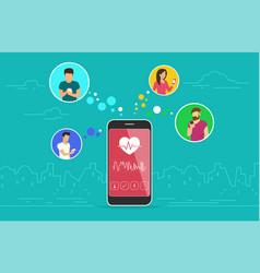 health care mobile app concept design vector image