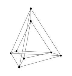 Hypertetrahedron 3d object vector
