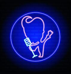 Karaoke neon sign vector