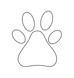 line dog animal footprints decoration design vector image