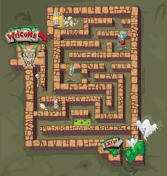 Maze horror vector
