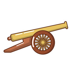 Menacing cannon icon cartoon style vector