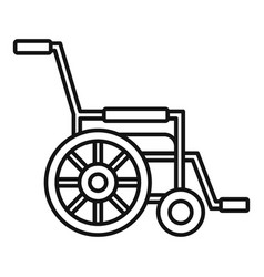 Mobility wheelchair icon outline style vector