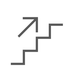 Public navigation line icon stairs vector