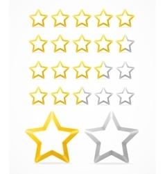 Rating Stars Set vector