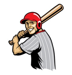 Retro of baseball ready to hit the ball vector