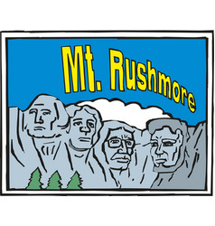 rushmore usa landscape background greeting card vector image