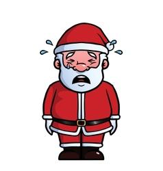 Santa Claus crying vector image
