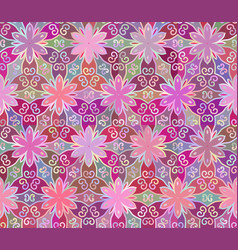 Seamless abstract floral interesting pink pattern vector