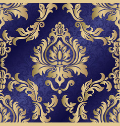 seamless damask wallpaper oriental pattern with vector image