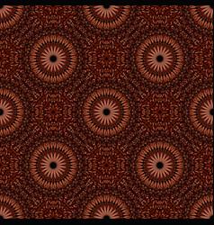 Seamless geometrical floral mandala pattern vector