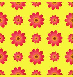 seamless pattern with dahila blossom isolated vector image