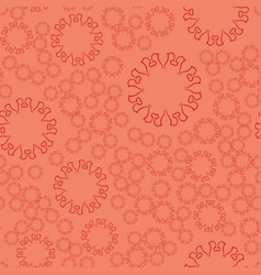 Seamless terrcota flower mandala for print on vector