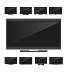 Set of silhouettes TV vector image