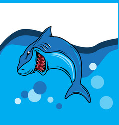 shark image vector image