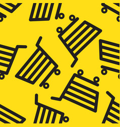 Shopping trolley seamless pattern vector