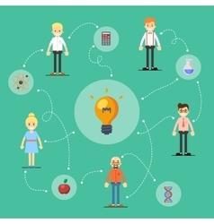 Social network and teamwork banner vector image