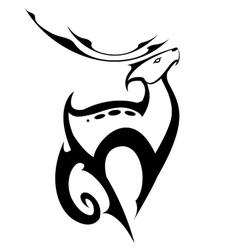 standing deer in symbol style vector image