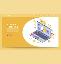 Targeting content marketing landing page vector