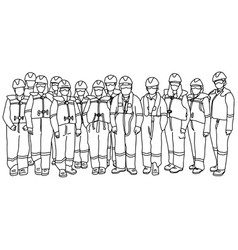 team workers man and woman in protective suits vector image
