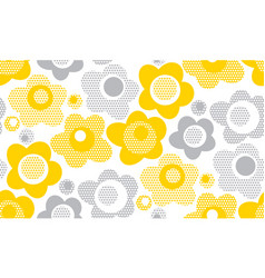 Tender gray and yellow floral seamless pattern vector