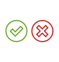 tick and cross signs simple vector image