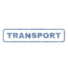 Transport textile stamp vector
