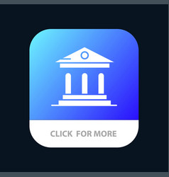 University bank campus court mobile app icon vector
