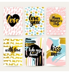 Valentines Day Trendy Posters vector