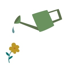 Watering can flowers plant concept vector
