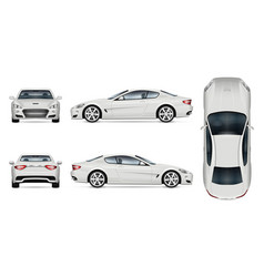 white sports car template vector image
