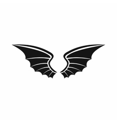 Wings icon in simple style vector image