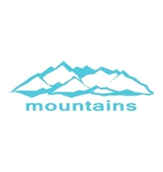 Blue mountains A symbolic image vector image vector image