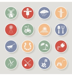 Farming round icons vector image