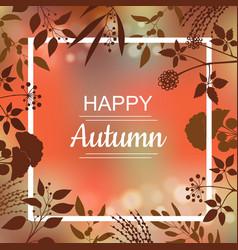 Happy autumn card design vector