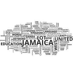 Jamaica villas text background word cloud concept vector