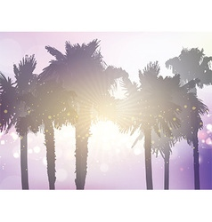 Retro styled palm tree background vector image vector image