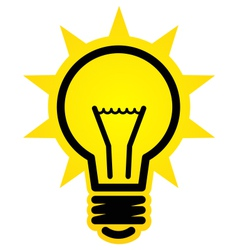 Shining light bulb icon vector image vector image