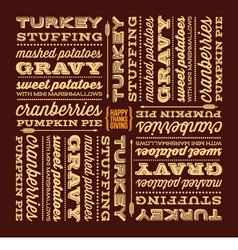 Thanksgiving greeting card with retro fonts vector image
