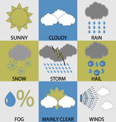 Weather icon set modern vector image