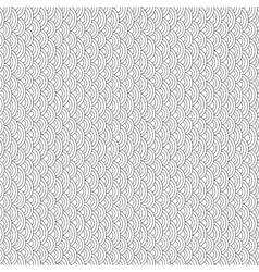 Black and white fish scales seamless pattern vector image